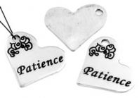 Stainless Steel Heart Charm/Pendant - Patience